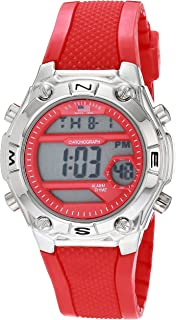 Men's Quartz Watch with Rubber Strap, red, 22 (Model:...