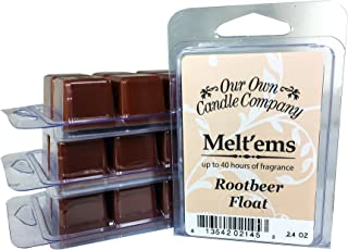Our Own Candle Company Premium Wax Melt, Root Beer Float, 6 Cubes, 2.4 oz (4 Pack)