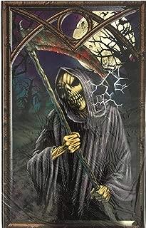 Halloween Window Decorations - Sticker Sheets for Halloween Window Designs (Grim Reaper Waiting)