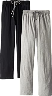 Hanes Men's Solid Knit Jersey Pajama Pant (Pack of Two...