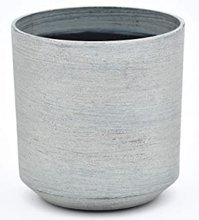 TABOR TOOLS Plastic Round Planters, 9 Inch, Light Weight, Includes Drainage Hole with Plug, Natural Modern Look and Stylish Finish. VB102A. (Matte Finish - Stone)