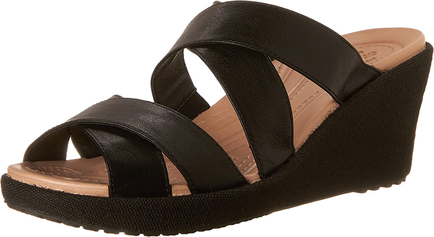 Crocs Women's A Leigh Crisscross W Wedge Sandal