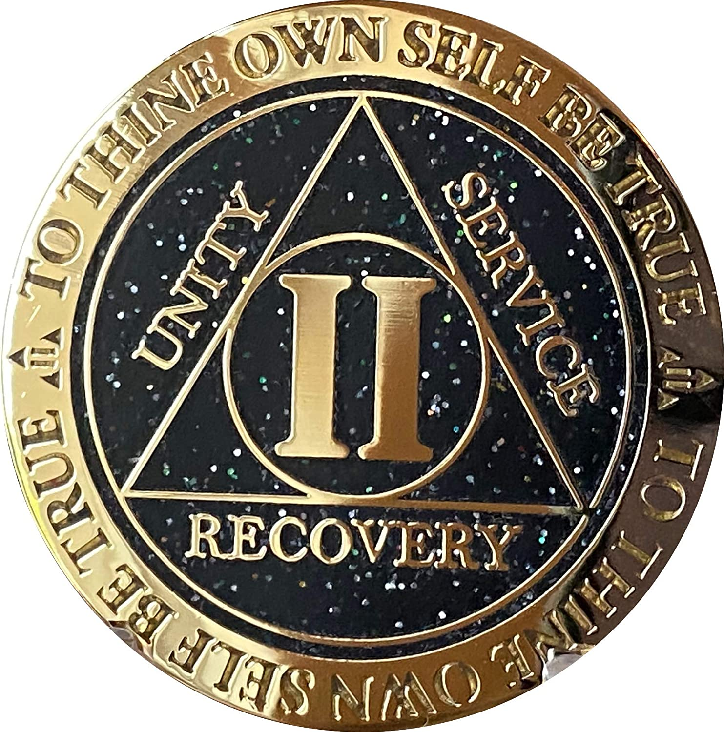 2 4 years warranty Year AA Medallion Reflex Black Glitter Chip Plated Color Special price for a limited time Gold