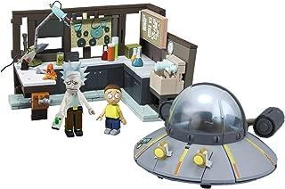 McFarlane Toys Rick & Morty Spaceship & Garage Large Construction Toy Set Interlocking Building