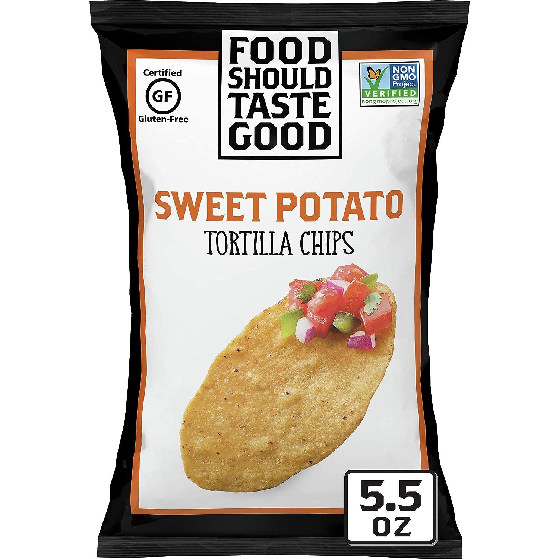 Food Should Taste Good, Gluten Free Sweet Potato Tortilla Chips, 5.5 oz