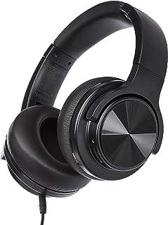 Amazon Basics Casque supra-auriculaire Bluetooth sans fil avec câble micro-USB et câble audio 3,5 - Noir