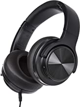 AmazonBasics Over-Ear Bluetooth Wireless Headset with Micro-USB and 3.5 Audio Cable - Black