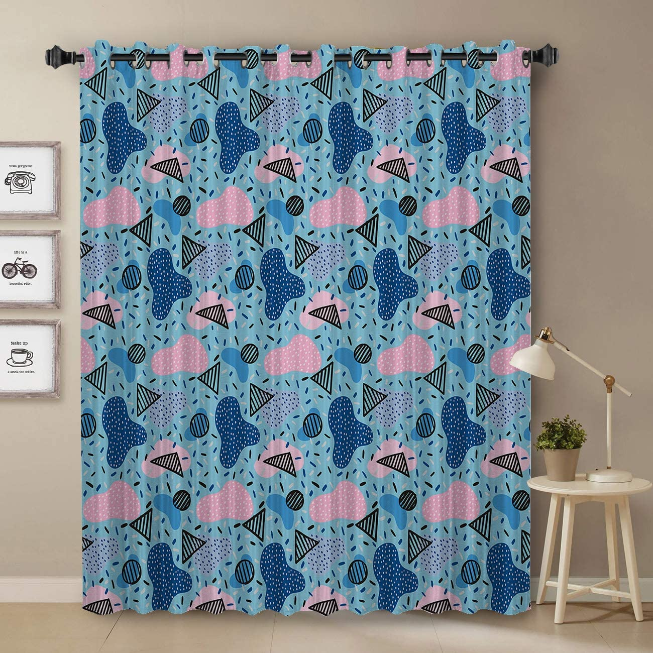 Darkening Blackout Free shipping on posting reviews Curtain Bargain for Bedroom - Tre Window Long 45 inch