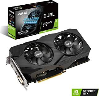 ASUS DUAL-GTX1660-O6G-EVO - Tarjeta gráfica de 6GB GDDR5 alcanza Frecuencias de refresco Altas para Que arrases en los Juegos FPS sin Tener Que esforzarte, 192 bits, PCI Express 3.0