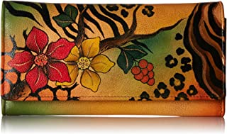 Hand Painted Leather | Triple Compartment Wallet/Clutch