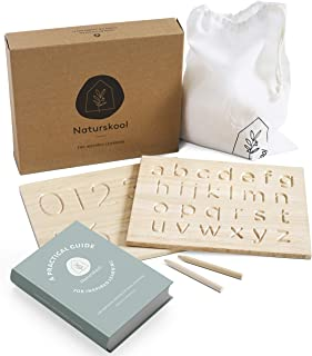 Alphabet Tracing Board | Free eBOOK | Wooden Montessori Materials | ABC 123 | Sensory Letter Board Featuring Letters Numbe...