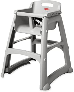 Rubbermaid Platinum Sturdy Chair Youth Seat High Chair, Plat