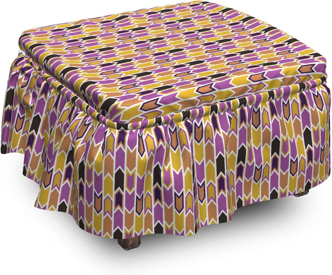 70% Max 61% OFF OFF Outlet Lunarable Abstract Ottoman Cover Modernized Piec 2 Tribal Like