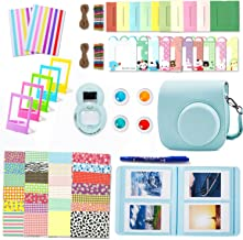Leebotree Camera Accessories Compatible with Fujifilm Instax Mini 9 or Mini 8 8+ Include Case/Album/Selfie Lens/Filters/Wall Hang Frames/Film Frames/Border Stickers/Corner Stickers (Ice Blue)