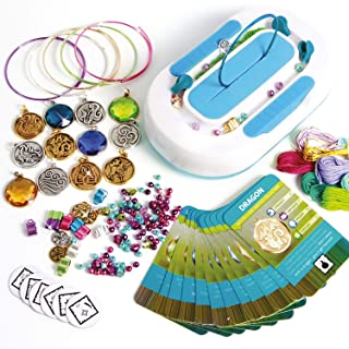 Style Me Up - Friendship Bracelet Making Kit with Charms and Gemstones - Deluxe Kit Nature - SMU-906