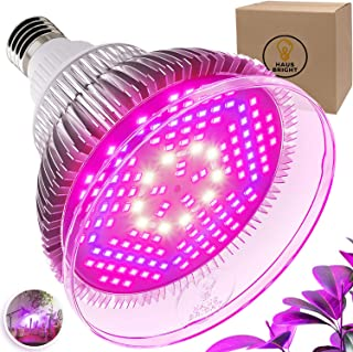 100W LED Grow Light Bulb - with Protective Lens | Full Spectrum Lamp for Indoor Plants, Garden, Flowers, Vegetables, Greenhouse & Hydroponic Growing | E27 Base with 150 LED's by Haus Bright, 100W Lens