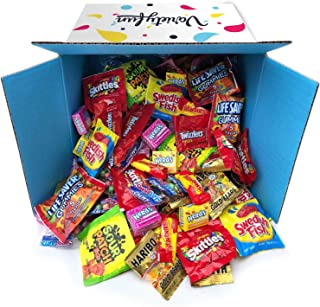 Candy Party Mix Bag Includes Skittles Swedish Fish Nerds Haribo Gummy Sour Patch Twizzlers Life Savers Starburst Sweet Tarts by Variety Fun (160 Ounce)