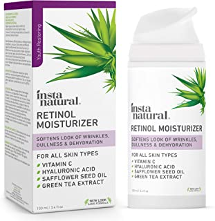 InstaNatural Retinol Moisturizer Anti Aging Night Face Cream - Face & Neck Wrinkle Lotion - Reduce Appearance of Wrinkles,...