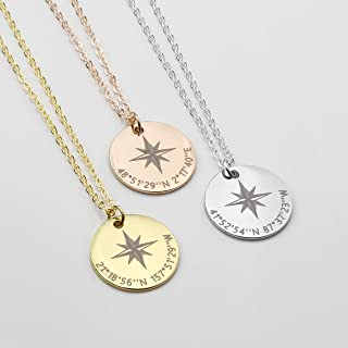 Best compass necklace with coordinates Reviews