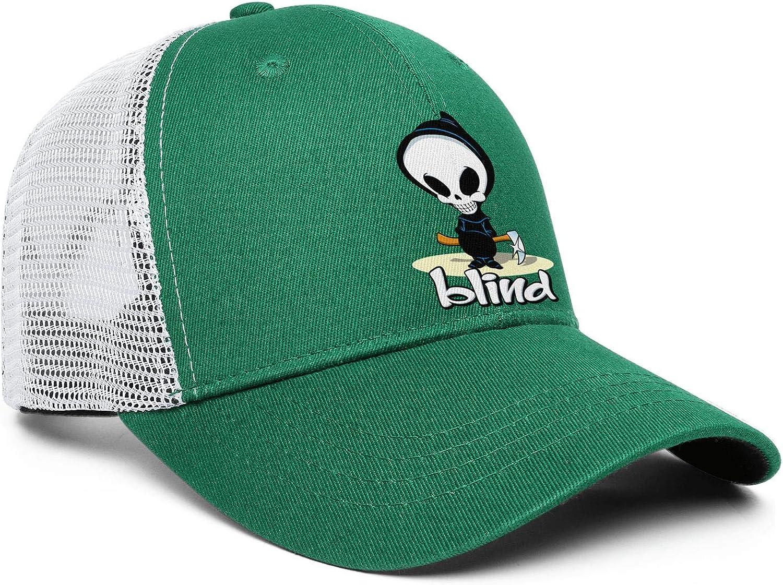 Blind-Skateboards-Logo Hat for Mens Womens Dad Hat Adjustable Shooting Hat Hiphop Hat Hiphop Stuff Skater Accessories