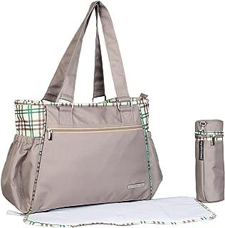 My Milestones Spectra Baby Diaper Bag/Mothers Bag - Beige Checks
