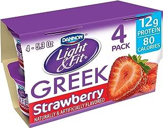 Dannon, Light & Fit Yogurt, Greek, Strawberry, 5.3 Oz, Pack of 4