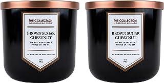 شمعة Chesapeake Bay Candle Core Collection مزدوجة الربط، كشمير Pl, Brown Sugar Chestnut, 2 Count