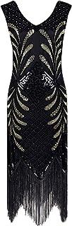 YENMILL 1920s Flapper Dress Roaring 20s Great Gatsby Costume Fringed Embellished Dress
