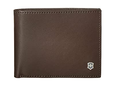 Victorinox Altius Edge Appolonios Slim Bifold Wallet w/ RFID (Dark Earth Leather) Bi-fold Wallet