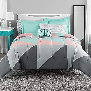 Mainstay Grey & Teal Bed in Bag Bedding Set (King)
