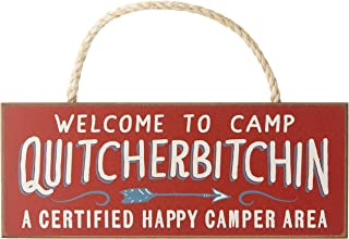 Best Welcome to Camp Quitcherbitchin - 4x10 Hanging Wooden Sign by My Word! Reviews