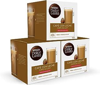 Nescafé Dolce Gusto Café con Leche Descafeinado, 3 x 16 Cápsulas