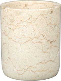 Creative Home Genuine Champagne Marble Stone Rounded Bottom Wine Cooler, Beige