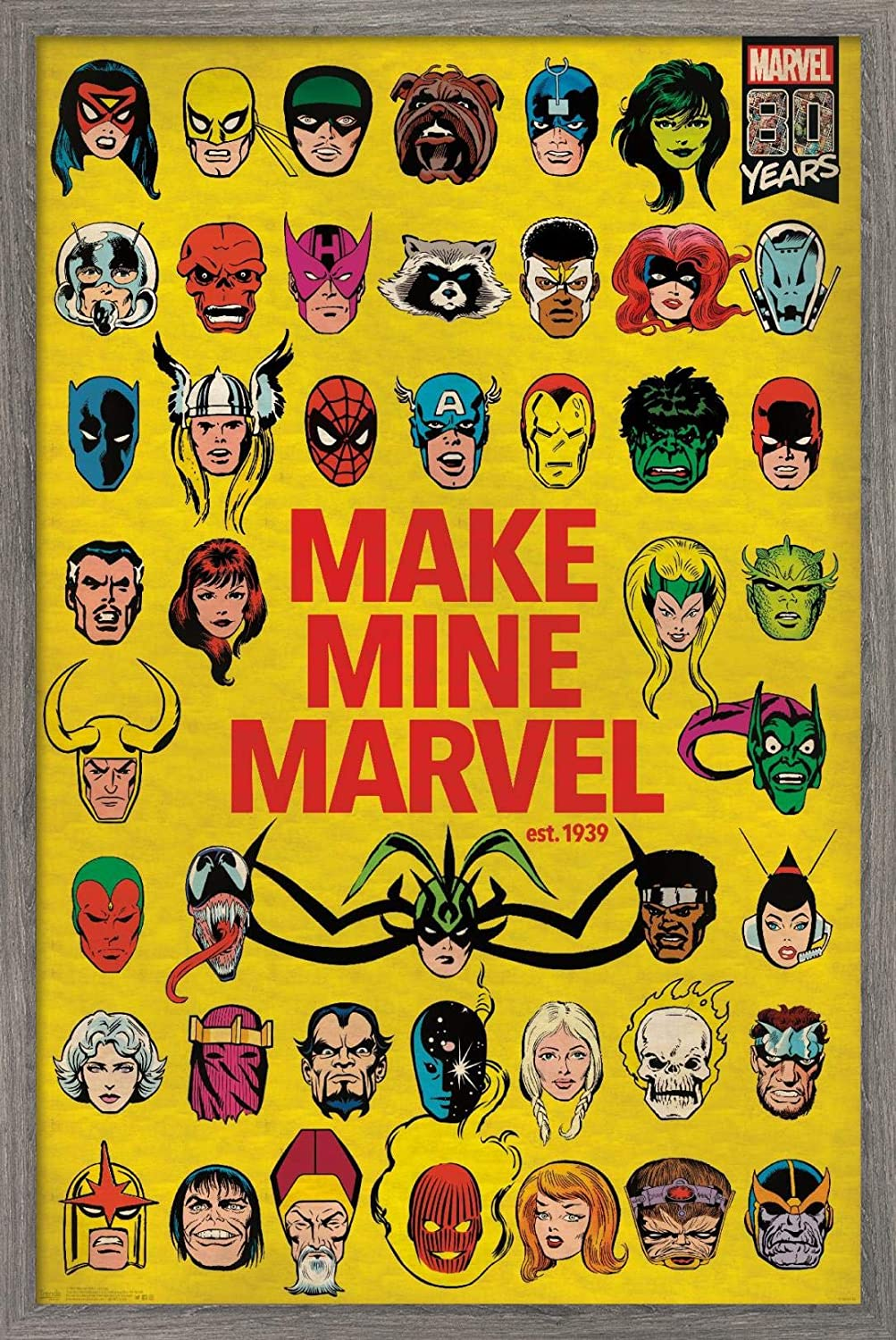 Trends International Comics-Marvel 80th P Anniversary-Group Las Vegas Mall Wall Safety and trust
