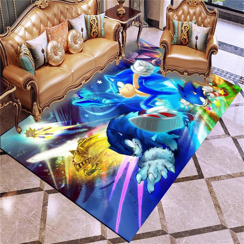 Changskj sale Area Rug Anime Sonic Doormat Room Carpet Floor Popular overseas Game