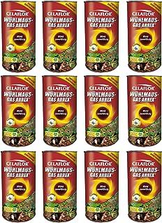 GARDOPIA Sparpaket: 12 x 250 g Celaflor Wühlmaus-Gas Arrex Maulwurf Vergrämungs Vertreibungsmittel + Gardopia Zeckenzange ...