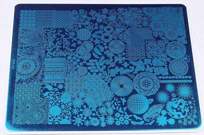 マーチャンダイジングベンチ昇進FidgetGear ネイル画像ネイルスタンピングプレートマニキュアネイルアートの装飾スタンピングプレート KM 03