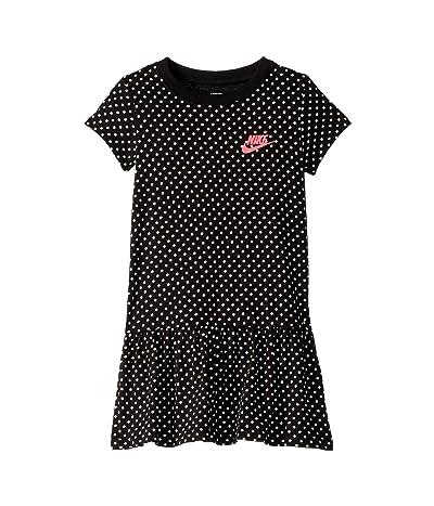 Nike Kids Dot Print Dress (Little Kids) (Black) Girl