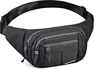 Sponsored Ad - Fanny Pack for Men Women Waterproof Hip Bum Bag Waist Pack Bag Suitable for Outdoors Workout Traveling Casu...