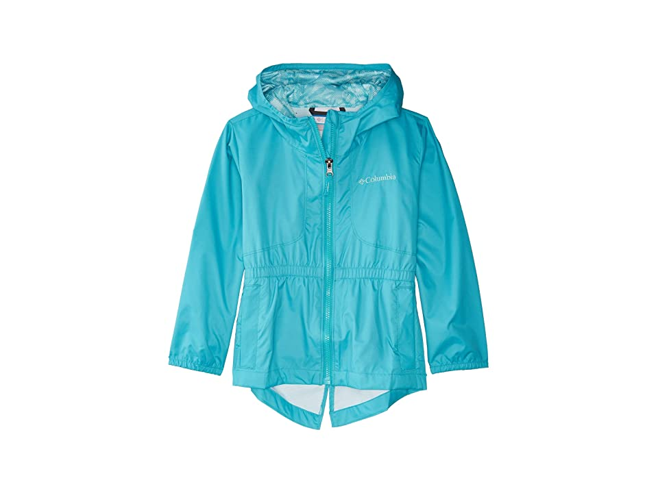 Columbia Kids Dolliatm Rain Jacket (Little Kids/Big Kids) (Geyser/Geyser/Palms Print) Girl
