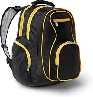 Colored Trim Premium Laptop Backpack, 19-inches