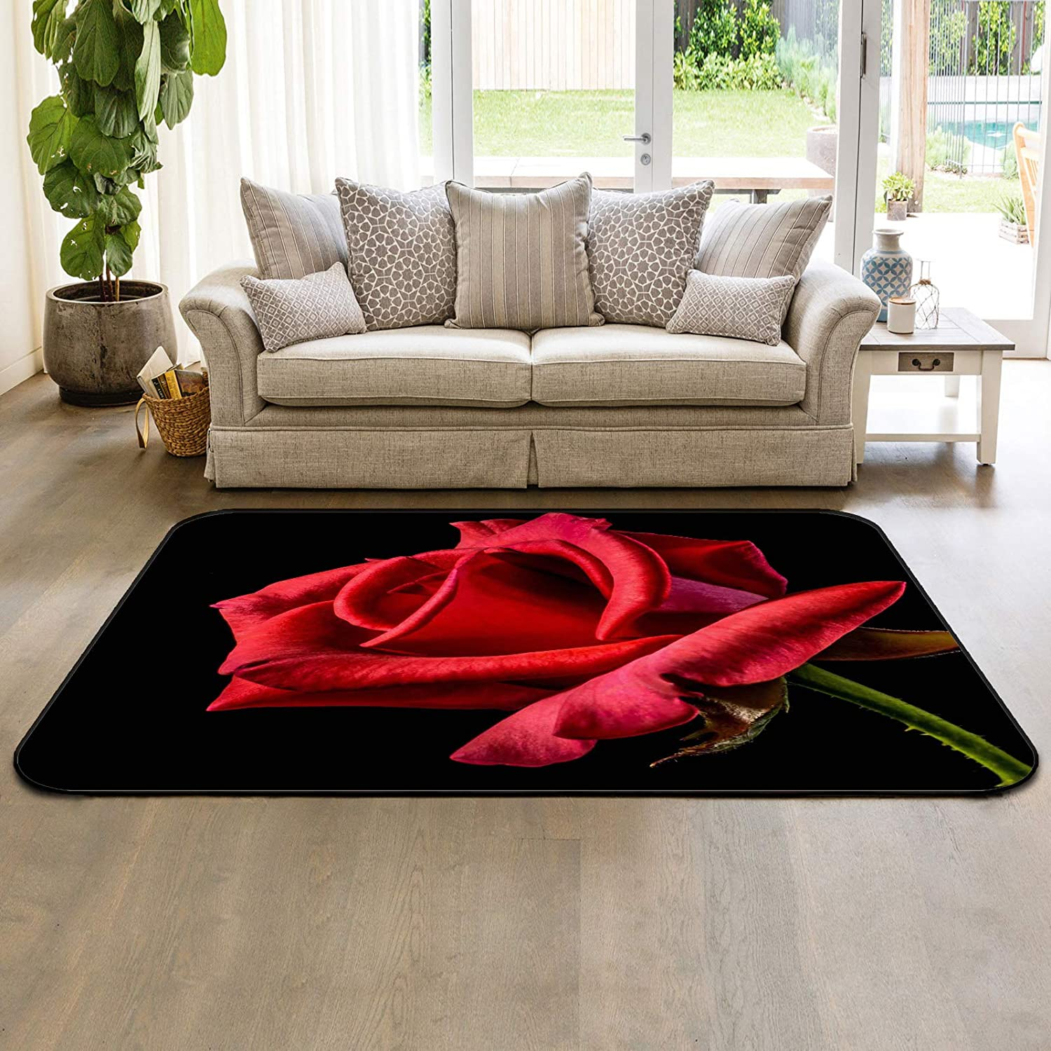 HomeDecorArt Non Slip Indoor Throw Red Accent Rugs Floor Carpet Free shipping anywhere Department store in the nation