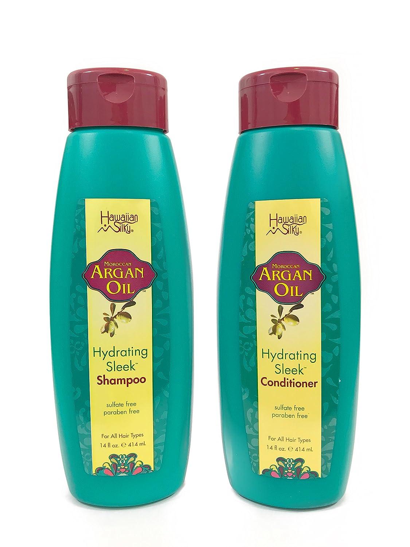 Hawaiian Silky Argan NEW Oil Shampoo Conditioner - 2 Each i 14 Spring new work oz
