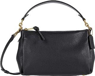 حقيبة يد عصرية بحزام طويل للنساء من كوتش لون أسود