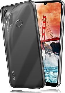 MoEx® Funda [Transparente] Compatible con Huawei Y7 / Y7 Prime (2019)   Ultrafina y Antideslizante - Transparent
