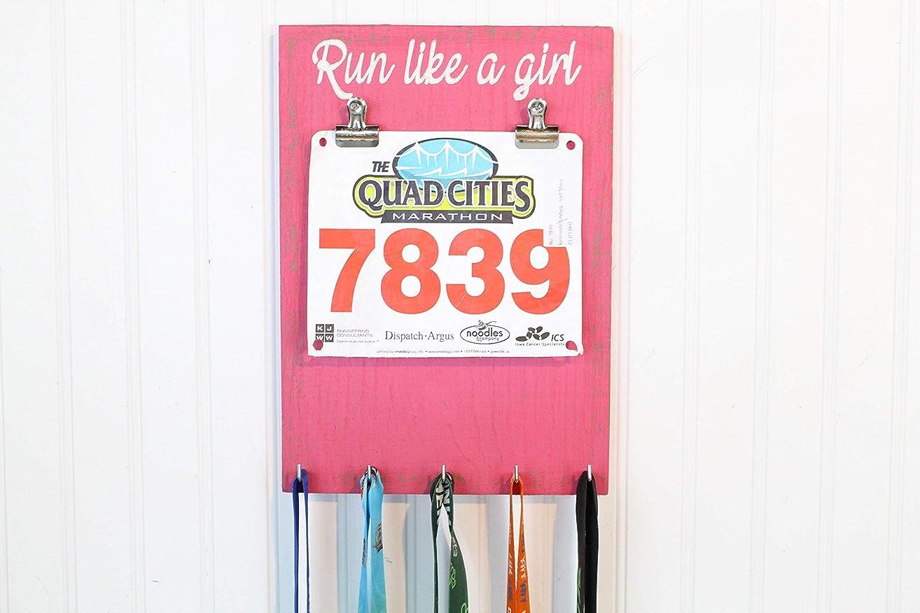 Run Like A Girl Running Medal Holder- Bib Holder