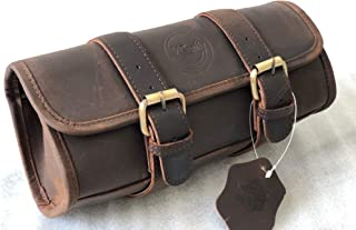 brown leather motorcycle bags