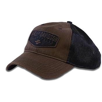 Harley-Davidson Men's Renowned Patch Baseball Cap, Brown Stone Washed