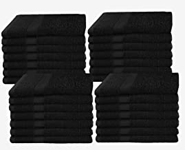 COTTON CRAFT - 28 Pack Black Color Wash Cloths - 100% Ringspun Cotton - 12x12 - Light Weight 450 Grams - Quick Drying and Highly Absorbent