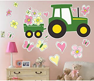 Party Destination John Deere Room Decorations Girl Tractor Pink Wall Decal Sticker Clings